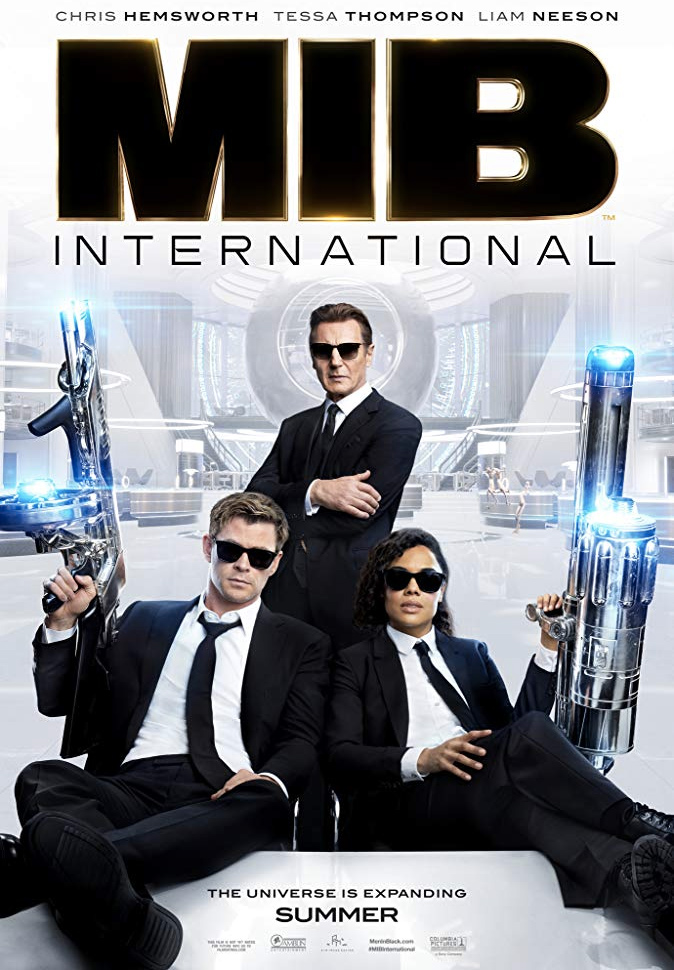 Poster de MiB: Homens de Preto - Internacional mostra Liam Neeson, Chris Hemsworth e Tessa Thompson