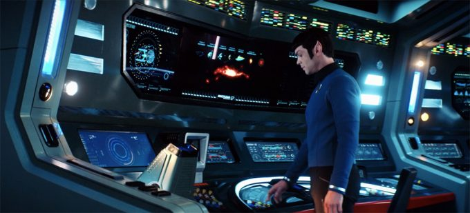 Ao final do episódio, Spock assume seu posto na Enterprise, deixando a barba e a Discovery para trás