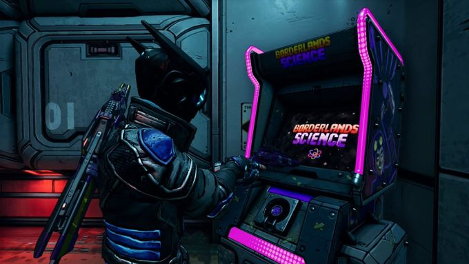Máquina do Borderciência no Borderlands 3