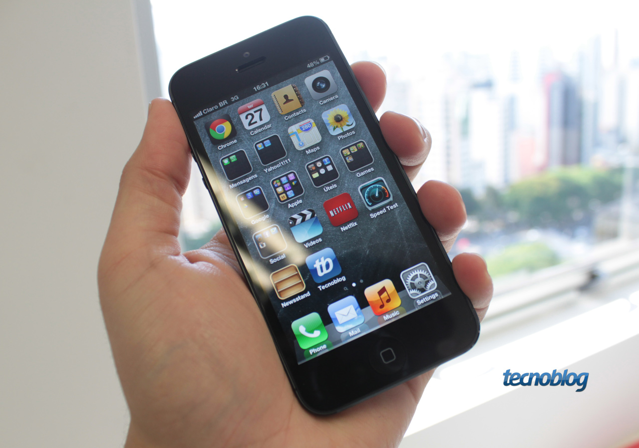 review iphone 5 mais uma evolu o do que revolu o an lise v deo tecnoblog. Black Bedroom Furniture Sets. Home Design Ideas