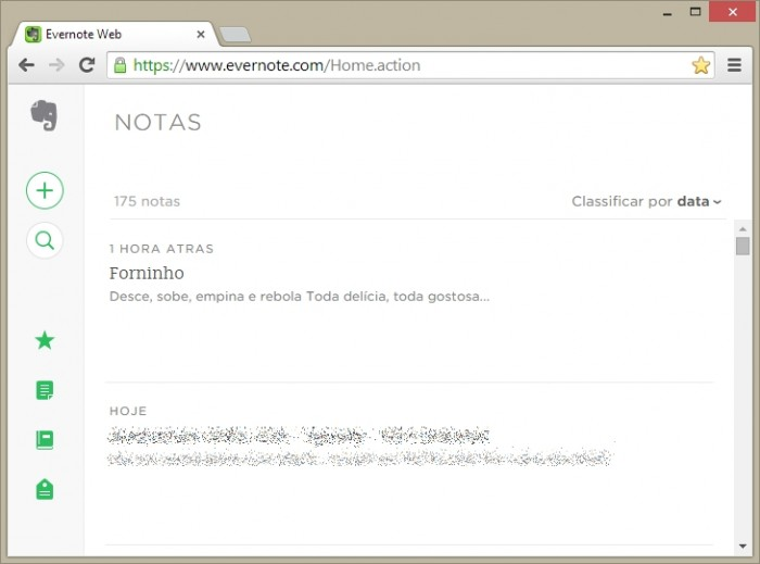 Novo Evernote web