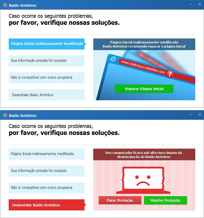 Desinstalador do Baidu Antivirus