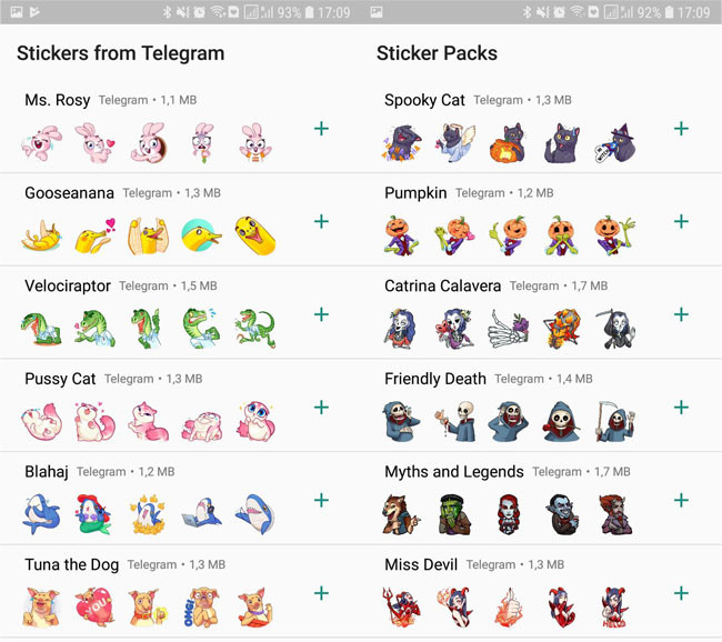 Stickers do Telegram no WhatsApp