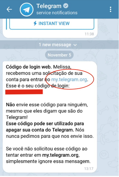 Chat Excluir Telegram Codigo