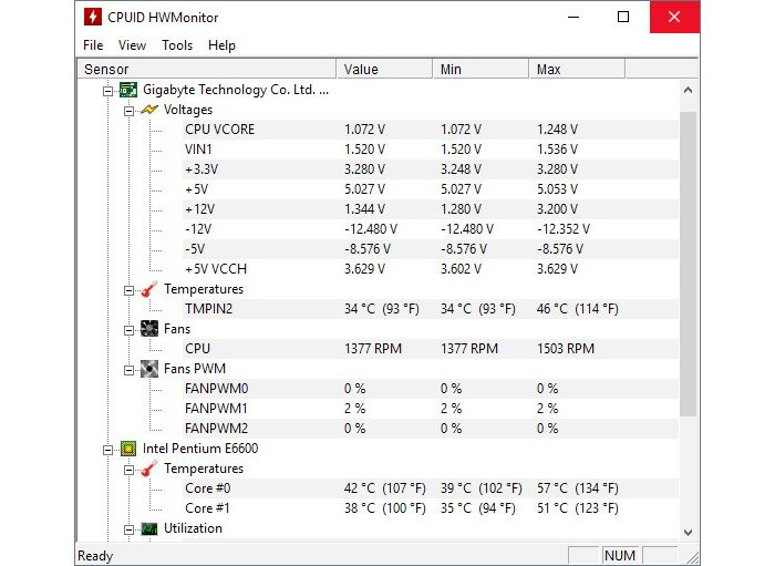 Windows / HWMonitor / como ver a temperatura do pc