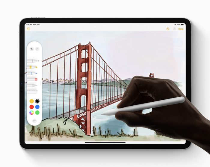 Apple Pencil ficou mais responsiva