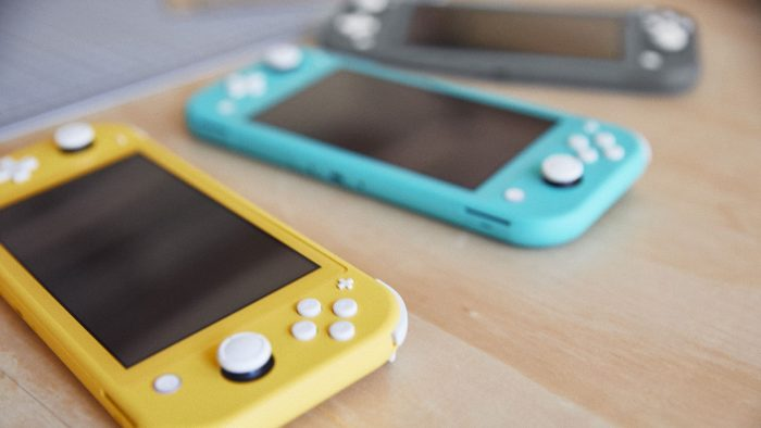 cores nintendo switch lite