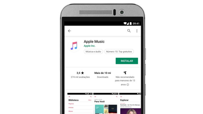 Apple Music no Google Play