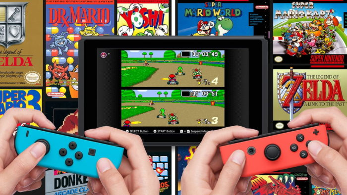 Nintendo Switch com jogos do NES e SNES