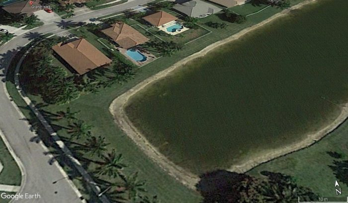 Imagem de Grand Isles, Google Earth, 2016