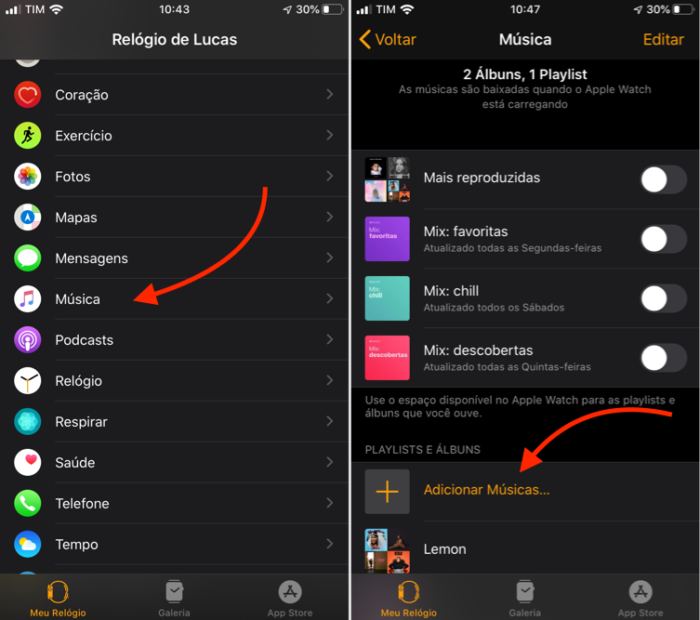 Como Colocar Música No Apple Watch Apple Music Aplicativos E Software Tecnoblog