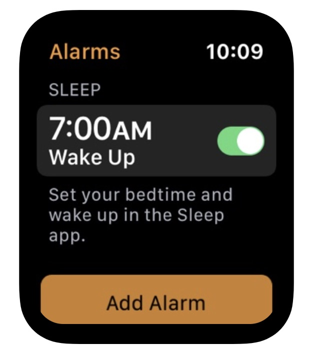 apple watch app sleep