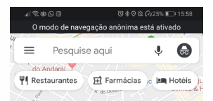 Modo Anonimo no Google Maps