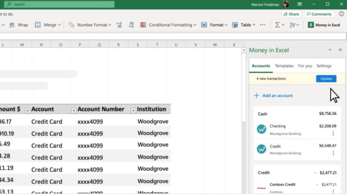 Money in Excel