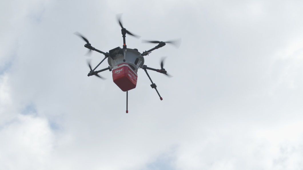 Speedbird drone takes deliveries of iFood (Image: publicity / iFood)