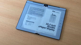 Kindle do futuro: E Ink demonstra leitor de ebooks dobrável