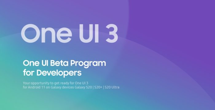 One UI 3.0 - programa beta