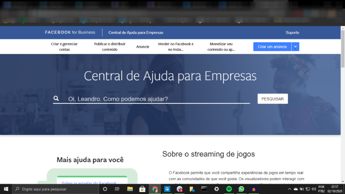 Facebook Gaming ou Twitch / Leandro Kovacs / Foto