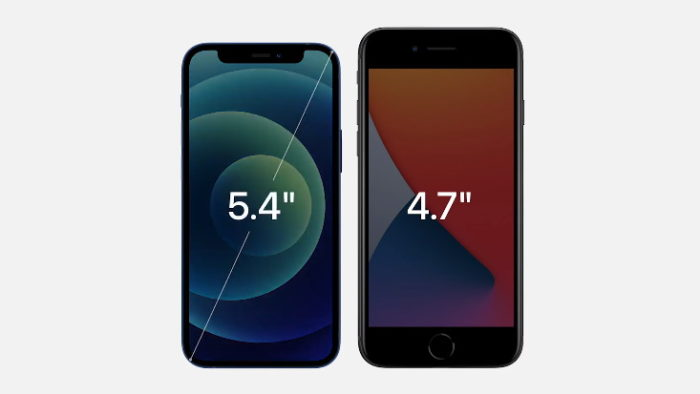 iPhone 12 Mini e iPhone 8 (Imagem: Apple)