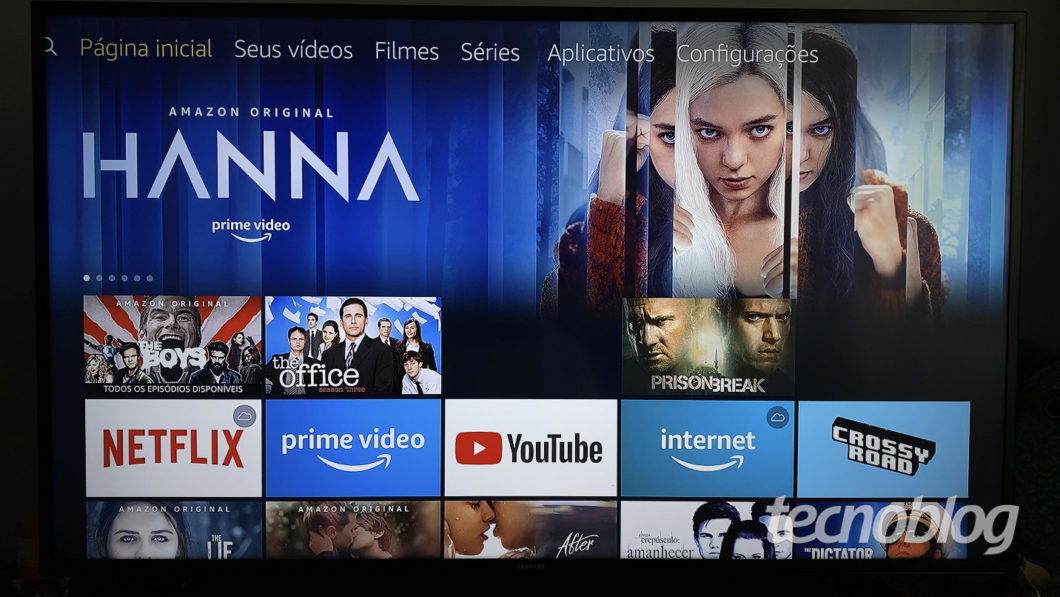 Amazon Fire TV Stick Lite interface (Image: Darlan Helder / Tecnoblog)