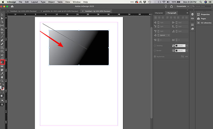 Criando gradiente no InDesign